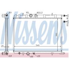 Kühler Motorkühlung - Nissens 63502