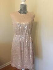 J.CREW NWT Cap Sleeve SEQUIN Dress Blush Pale Size 6 E5143 $198 Sold Out!