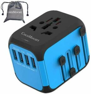 Universal Travel Adapter, All-in-one Worldwide Travel Charger Travel Socket