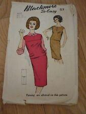 "Blackmore Patterns 9617 Ladies dress. Bust 34"" Vintage 1960s"