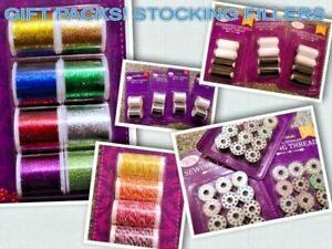 Multipack Threads Metallic Sewing Embroidery Threads / Metal Bobbins / Twine