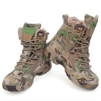 Men's Outdoor Tactical Army Combat SWAT Hiking Camo Hunting Ankle Boots Shoes