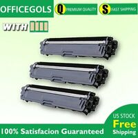 3PK For Brother TN223 Toner BLACK with chip MFCL3770CDW HLL3270CDW MFCL3710CW US