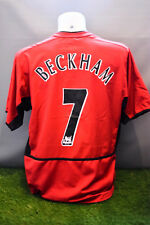 Manchester United Football Shirt Adult M Home Beckham 7 Nike 02/03