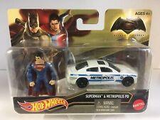 Hot Wheels BATMAN vs SUPERMAN: DAWN OF JUSTICE Superman & Metropolis PD car 2015