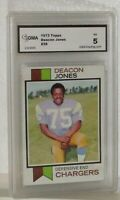 1973 TOPPS DEACON JONES #38 EX 5 BY GMA GREAT LOOKING CARD SAN DIEGO CHARGERS