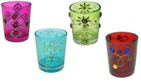Moroccan Glass Tea Light Candle Holders Tealight Votive Holder Wedding Party New