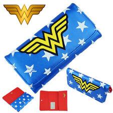 DC Superhero Wonder Woman Long Wallet Purse Button Layers Holder Handbag Cosplay