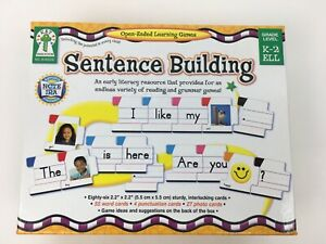 Carson Dellosa Sentence Building Open Ended Learning Game