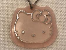 Rare Vintage Sanrio Hello Kitty Silver Pink Face Locket Key Chain Keychain, 1997