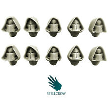 SPELLCROW 10 Space Knights Hooded Helmets BITS BITZ 28mm COMPATIBLE KIT BASH PDT