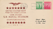 POSTAL HISTORY MILITARY NAVAL COVER - 1941 US NAVY 1ST DAY CANCELLATION GUANTANA