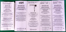 5 Lot Paul Mitchell Products Original Owner's Manuals Ion Blow Dryer & Curlers