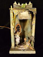 COLD PAINTED VIENNA BRONZE ORIENTALIST LAMP ATTRIBUTED TO FRANZ BERGMAN - C 1900