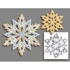 R & M International Giant 7.5 Inch Snowflake Cookie Cutter with Interior Cut-out