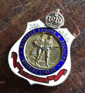 Australia WW1 RSL Lapel Badge 1919