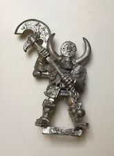 Metal Chaos Warrior Champion With Great Axe Warhammer Hordes Of Chaos Mortals