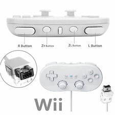 Pack Wired Classic Controller Pro For Nintendo Wii / Wii U Remote White UK