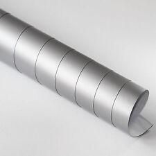 2x DIN A4 Wrapping Folie Matt Silber 21cm x 29,7cm Autofolie mit Luftkanälen