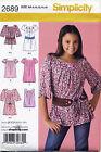 SIMPLICITY SEWING PATTERN 2689 GIRLS/TEENS/TWEENS 8-16 BOHO DRESS & TUNIC/TOP