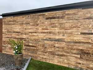 Reclaimed RUSTIC Scorched DIY Timber planks. Recycled/Eco Friendly/WALL CLADDING