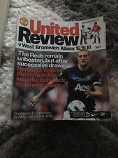 Man Utd V West Brom Oct 2010 Programme