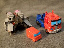 Transformers Cyberverse LOT of 2 Optimus Prime And Megatron with BONUS Ironhide