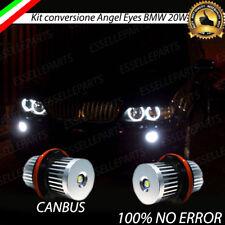 COPPIA LAMPADE LUCI POSIZIONE LED BMW X5 E53 2000-2006 ANGEL EYES 6000K BIANCO