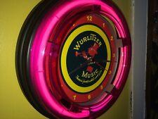 Wurlitzer Jukebox Phonograph Gameroom Advertising Neon Wall Clock Sign