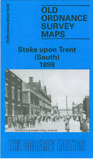 OLD ORDNANCE SURVEY MAP STOKE UPON TRENT SOUTH 1898