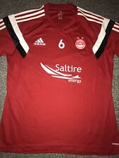 Aberdeen Training Worn Shirt 2014/15 No.6 Large Rare