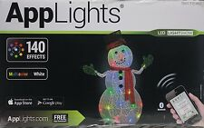 Gemmy AppLights LED Lightshow 50 in Lighted Crystal Swirl Snowman Sculpture