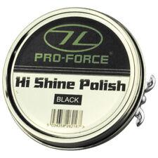 Pro-Force Military Cadet Hi Shine Leather Shoe Boot Polish Gloss Round Tin Black