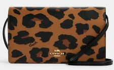 NWT Coach Anna Foldover Crossbody Clutch In Leopard MSRP: $228