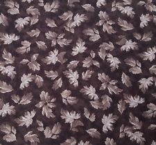 Hideaway BTY Waverly Quilting Treasures Dark Gray Leaves Cotton Fabric