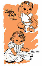 Baby Doll Pattern Vintage Mail Away Order 4931 -  Stuffed Rag Doll Clothes Toy