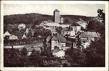 Teinitz Sasau Týnec nad Sázavou Tschechien Česká Böhmen ~1940 Burg Festung Dorf