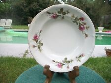 VINTAGE CHODZIEZ POLAND MOSS ROSE LOW RIM SOUP SALAD BOWL