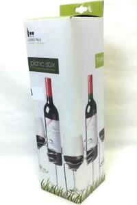 1 Picnic Stix Wine Bottle and Wine Glasses Holders for Outdoors Original Box