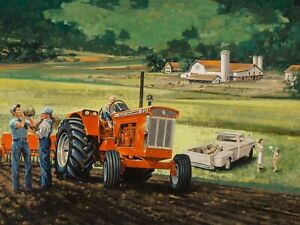 Allis Chalmers D21 Tractor NEW Metal Sign: Farm & Family Scene/Imagery