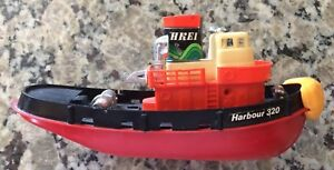 """Vintage HKEI Tugboat/Part of Tundra Imports """"Harbour Set""""/8"""" long X 4"""" tall"""