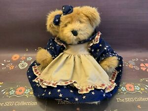 Russ Berrie & Co. 1983 Patriotic Plush Bear 'Amelia' WO/Tags Vintage