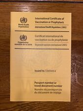 WHO International Certificate of Vaccination or Prophylaxis (ICVP) - Yellow Card