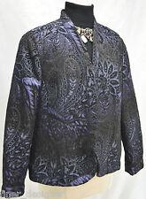 Coldwater Creek blazer light JACKET Coat  purple shimmer black velvet PXL 18 NEW