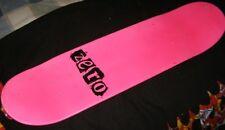 ZERO punk pink skateboard deck