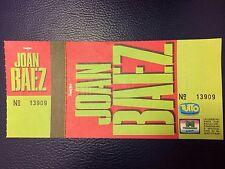 Biglietto Ticket JOAN BAEZ year 90 Rome Italy