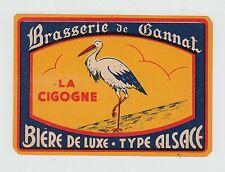 Ancienne étiquette Bière Alcool France Brasserie Becaud  La Cigogne 2