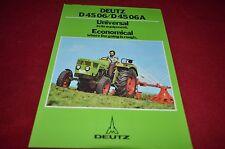 Deutz D 45 06 D45 06A Tractor Dealer's Brochure YABE11 Ver82