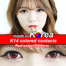 Farbige Kontaktlinsen Coloured Contact Lenses Color Contacts Circle Lens Red P1