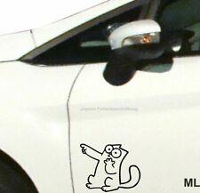 Aufkleber Simons Cat 25cm S133 Farbe nach Wahl für Auto Bus Heckfenster Wände